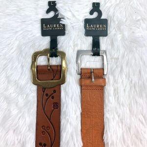 Lauren Ralph Lauren Leather Belt Women's Bundle